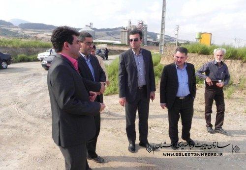 بازدید رییس سازمان مدیریت و برنامه ریزی استان از پروژه های شهرستان مینودشت