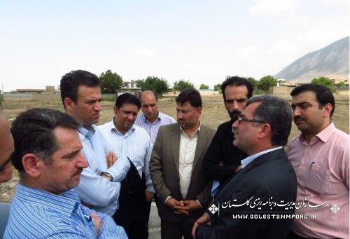 بازدید رئیس سازمان مدیریت و برنامه ریزی از پروژه های شهرستان گالیکش