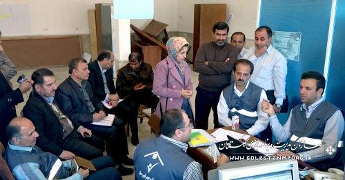 چهارمین جلسه ستاد سرشماری آزمایشی نفوس و مسکن 1394 شهرستان ترکمن