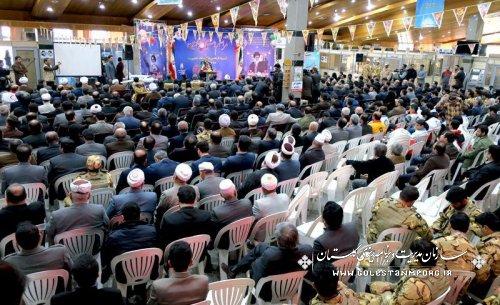 برگزاری مراسم استقبال نمادین گلستانیها از امام خمینی(ره) در فرودگاه گرگان
