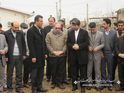 افتتاح پروژه های عمرانی شهرستان کلاله با حضور رئیس سازمان مدیریت و برنامه ریزی  استان