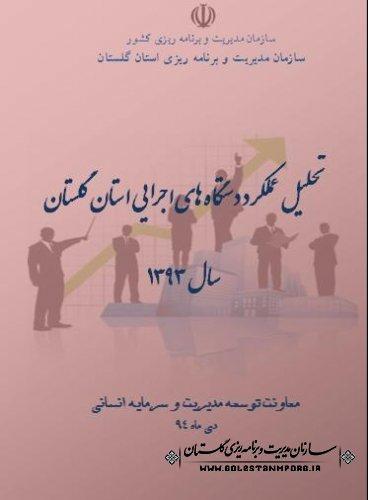 انتشار گزارش تحلیل عملکرد دستگاههای اجرایی استان گلستان