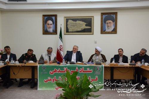 استاندار گلستان:بسیج می تواند نقشی موثر در اجرای طرح های اقتصاد مقاومتی استان داشته باشد