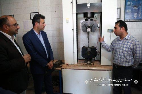 بازدید جناب آقای مهندس پیش قدم از آزمایشگاه فنی آب وخاک استان