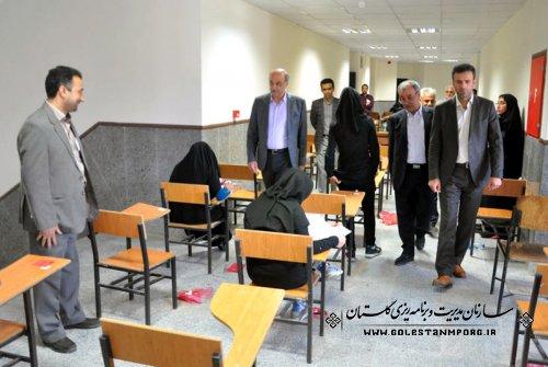 بازدید رئیس سازمان مدیریت و برنامه ریزی استان از محل برگزاری آزمون سراسرس سال 1395: