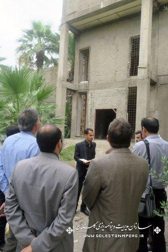 بازدید کمیته نظارت شورای فنی استان از پروژه های عمرانی دستگاههای اجرایی