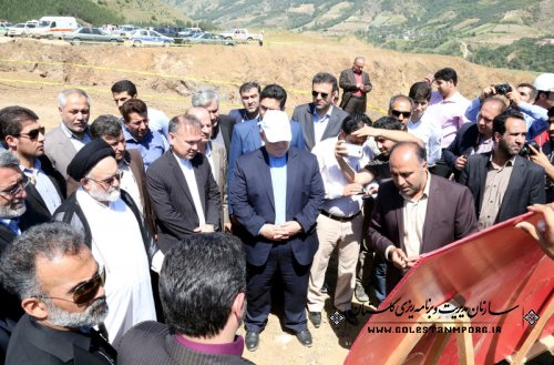 بازدید وزیر کشور از روند تکمیل سد نرماب-چل جای مینودشت