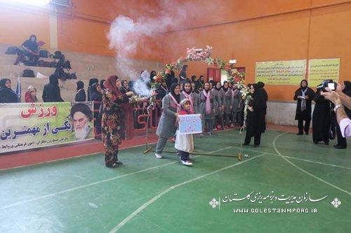 حضور تیم والیبال بانوان سازمان در اولین دوره مسابقات والیبال بانوان دستگاههای اجرایی استان گلستان