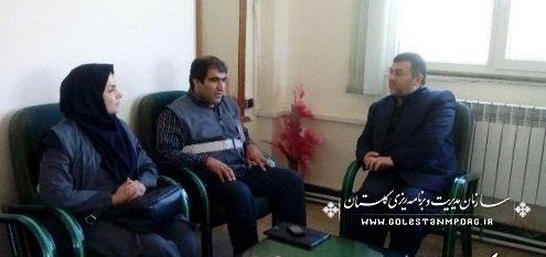 بازدید بازرس ویژه مرکز آمار ایران از ستاد سرشماری در علی آباد کتول