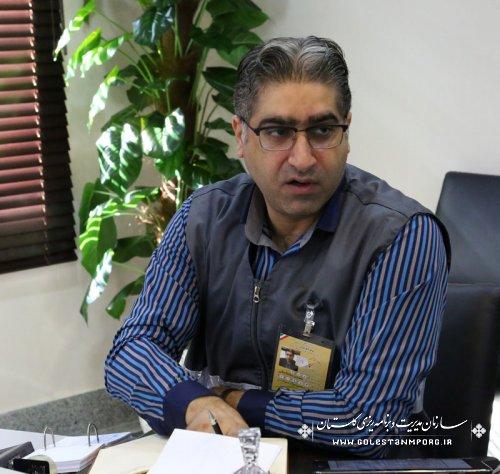 جایگاه پنجمی استان گلستان در سرشماری حضوری از منظر درصد پیشرفت کار