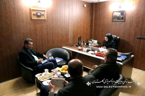 بازدید حسین پیش قدم رئیس سازمان برنامه و بودجه استان از واحدهای صنعتی: