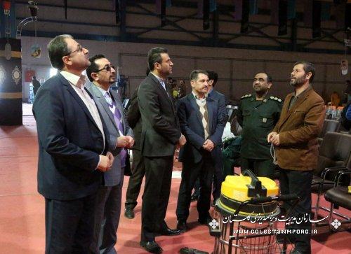 بازدید حسین پیش قدم از محل اجلاسیه 4000 شهید استان گلستان