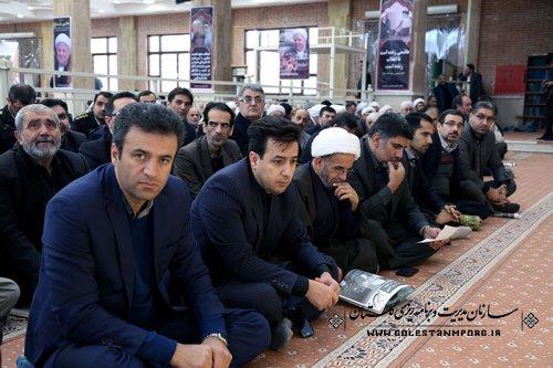 حضور رئیس ،معاونین ،مدیران وکارشناسان سازمان درمراسم ارتحال حضرت ایت الله هاشمی