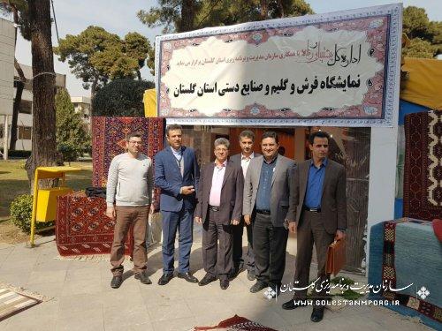 استقبال همکاران سازمان برنامه وبودجه کشور از نمایشگاه صنایع دستی استان گلستان