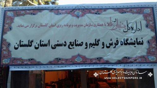 تمدید نمایشگاه فرش وصنایع دستی استان گلستان در سازمان برنامه وبودجه کشور(تهران)