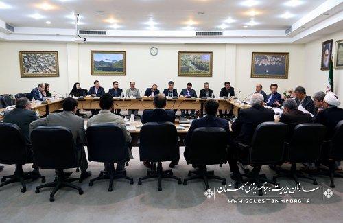 بیست وچهارمین جلسه ستاد فرماندهی اقتصاد مقاومتی استان گلستان