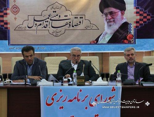 هشتمین جلسه شورای برنامه ریزی توسعه استان گلستان