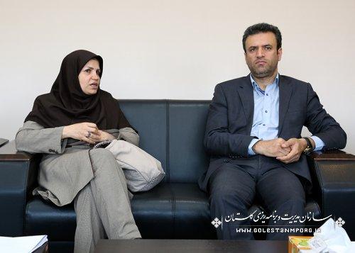 ملاقات مشاور اقتصادی سازمان هواشناسی کشور با رئیس سازمان مدیریت وبرنامه ریزی استان گلستان