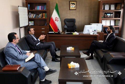 دیدار مدیر خبرگزاری ایرنا در استان گلستان با رئیس سازمان مدیریت وبرنامه ریزی استان
