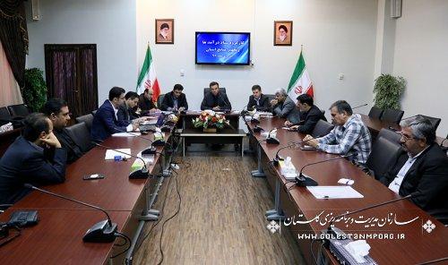 جلسه کارگروه ستاد درآمدها و تجهیز منابع استان