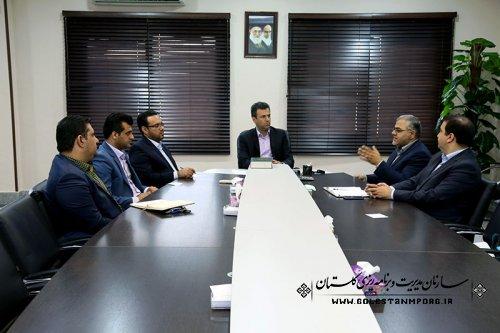 جلسه مدیر بانک رسالت استان با مهندس پیش قدم رئیس سازمان
