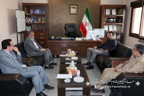 دیدار رئیس سازمان با رئیس ستاد اقامه نماز استان