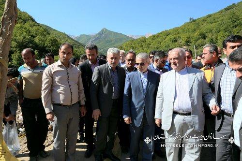 بازدید دکتر نوبخت از مناطق سیل زده استان گلستان
