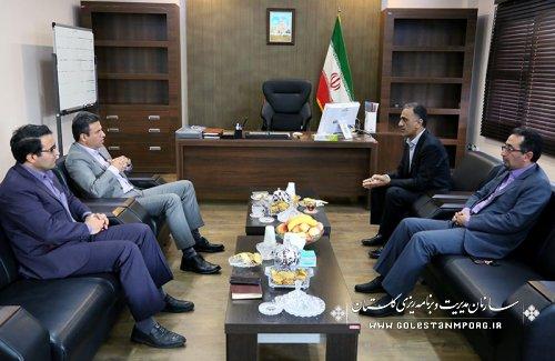 دیدارمدیر امور شعب بانک ملی استان با مهندس پیش قدم رئیس سازمان
