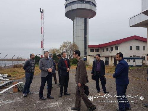 باذدید مهندس پیش قدم رییس سازمان مدیریت وبرنامه ریزی استان از پاویون مسافربری فرودگاه گرگان