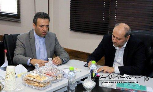 دیدار استاندار گلستان با کارمندان سازمان مدیریت و برنامه ریزی استان