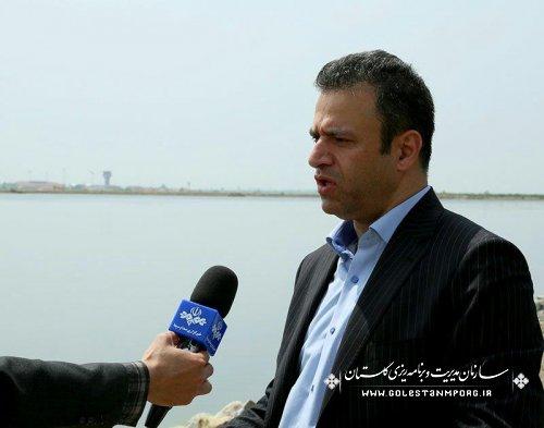 بازدید رئیس سازمان مدیریت و برنامه ریزی استان از آب بندان روستای محمد آباد گرگان