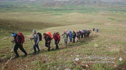 صعود هماهنگ تیم کوهنوردی سازمان مدیریت برنامه ریزی استان به ارتفاعات شهباز استان مرکزی