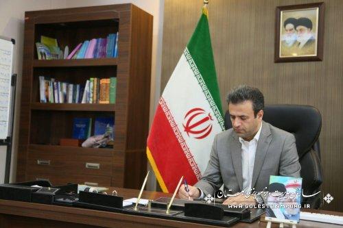 پیام تبریک رئیس سازمان مدیریت وبرنامه ریزی استان گلستان به مناسبت روز ارتباطات و روابط عمومی