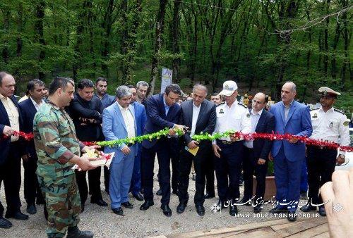 جاده سلامت در پارک جنگلی النگدره گرگان افتتاح شد