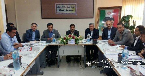 کمیته برنامه ریزی در شهرستان کلاله برگزار شد.
