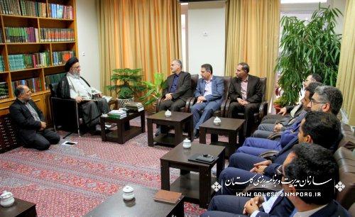 دیدار دکتر روزبهان رئیس سازمان با آیت ا... نورمفیدی نماینده ولی فقیه در استان گلستان وامام جمعه گرگان