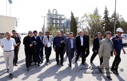 گزارش تصویری از بازدید دکتر روزبهان رئیس سازمان از کارخانه کانسار خزر ،بندر خشک وراه آهن اینچه برون به اتفاق معاونین استاندار ومدیران دستگاههای اجرایی استان