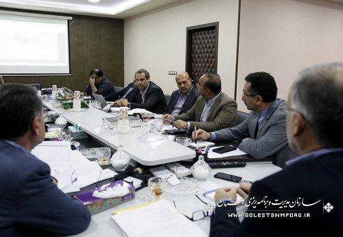 جلسه ستاد راهبری و رصد پروژه های ستاد فرماندهی اقتصاد مقاومتی استان گلستان