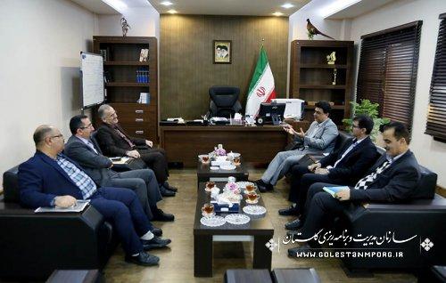 گزارش تصویری از دیدار مدیران دستگاههای اجرایی با دکتر روزبهان رئیس سازمان بخش چهارم
