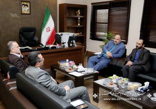گزارش تصویری از دیدار مدیران دستگاههای اجرایی با دکتر روزبهان رئیس سازمان بخش پنجم