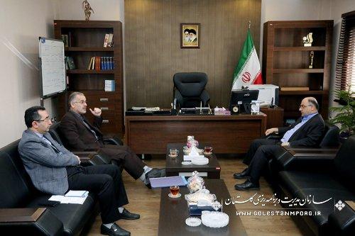 گزارش تصویری دیدار دکتر حسینی فرماندار شهرستان آزادشهر با دکتر روزبهان