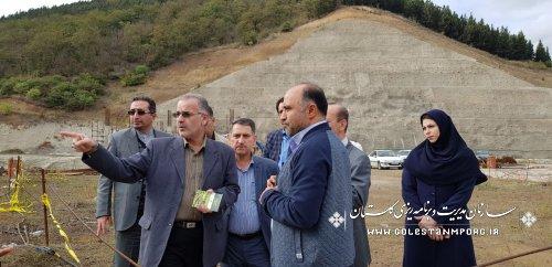 بازدید دکتر روزبهان از سدهای استان گلستان
