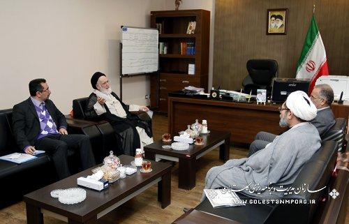 دیدار آیت الله شاهرودی نماینده مجلس خبرگان رهبری استان گلستان با دکتر روزبهان