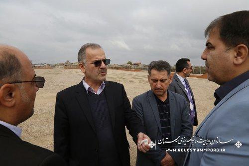 بازدید رئیس سازمان مدیریت وبرنامه ریزی استان از تعدادی از پروژه های در حال اجراء ملی واستانی شهرستان آزاد شهر
