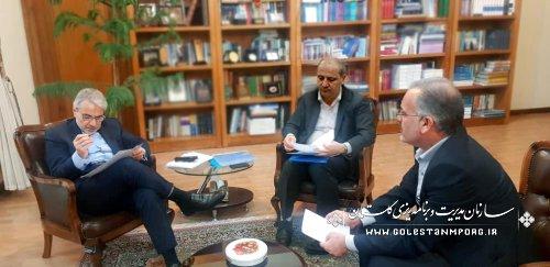 دیدار دکتر هاشمی استاندار استان گلستان وآقای روزبهان رئیس سازمان با دکتر نوبخت رئیس سازمان برنامه وبودجه کشور