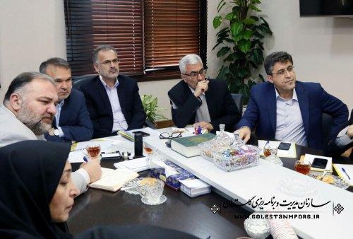 جلسه مجمع نمایندگان استان گلستان با رئیس وهمکاران سازمان مدیریت وبرنامه ریزی استان