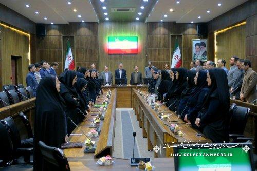 برگزاری مراسم روز زن در سازمان مدیریت وبرنامه ریزی استان گلستان