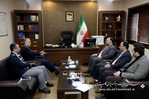 دیدار مهندس هزارجریبی نماینده مردم شریف گرگان وآق قلا با آقای روزبهان رئیس سازمان
