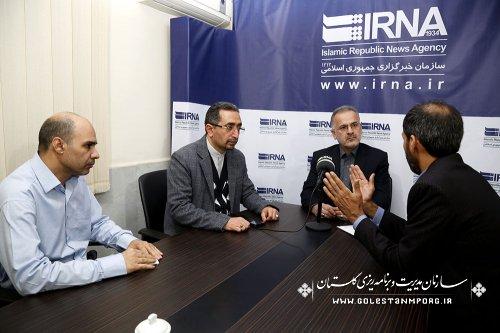بازدید آقای روزبهان رئیس سازمان از خبرگزاری ایرنا