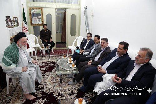 دیدار آقای روزبهان با حضرت آیت الله شاهرودی نماینده مردم شریف استان در مجلس خبرگان رهبری